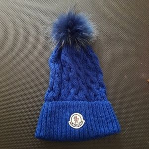 Moncler Berretto Slouch Wool Pom Beanie NWT MSRP $270